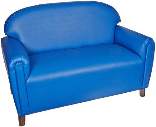 Brand New World School Age Premium Vinyl Upholstery Sofa - Blue