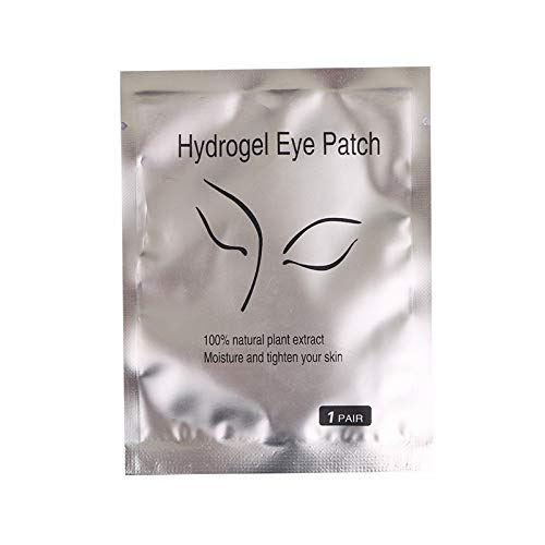 110 Pairs Eyelash Extension Gel Patches Kit, Lash Extension Lint Free Under Hydrogel Eye Mask Pads Beauty Tool with Transparent Cosmetic Bag by Ferbixo
