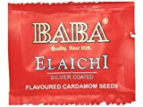 Baba Silver Coated Elaichi Saffron Blended 81 Pouch 0.179 gram each (Mouth Freshener | Flavoured Cardamom Seeds) (1)