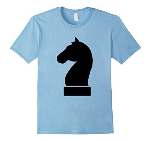 Workplace Group Costumes (Mens Chess Piece Group Costume Shirt - KNIGHT (black) 3XL Baby Blue)