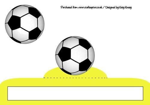 Balón de fútbol loco plegable tarjeta en amarillo por Katy Kinsey ...
