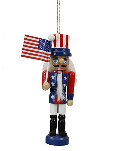 Nutcracker Ornaments 5 Inch American Flag [C6197] ()
