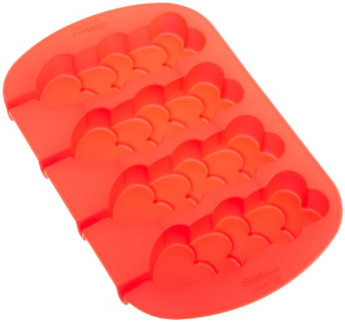 Wilton Silicone Stacked Hearts Mold Pan