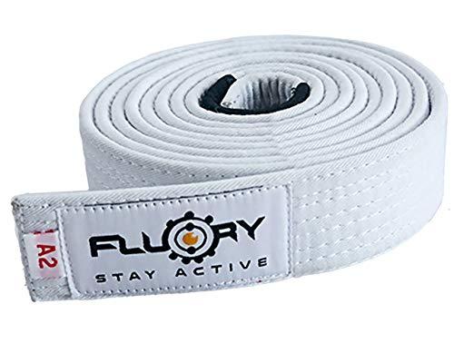 FLUORY BJJ Belt, Brazilian Jiu Jitsu Belts with Color White,Purple,Brown,Brown,Black, for Size A0,A1,A2,A3,A4 (BTF01bai, A1)