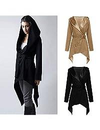 HHmei Women's Slim Hoodede Coat, Autumn Winter Long Jacket Outwear Cardigan Coat