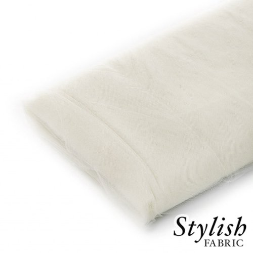 Ivory Tulle Fabric - 40 Yards Per Bolt