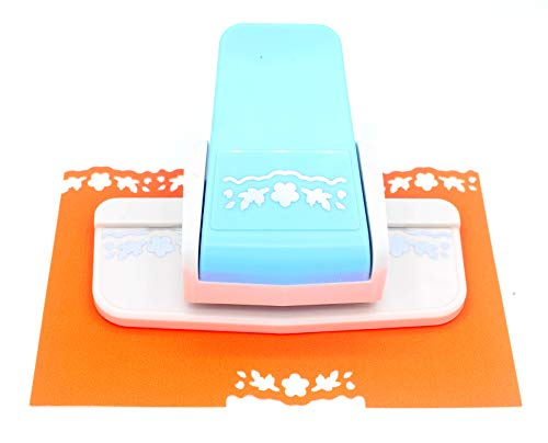 (Kucaa Handmade Scrapbooking Edge Puncher Fancy Border Punch Cherry Blossom Design DIY Paper Cutter (Cherry Blossom))