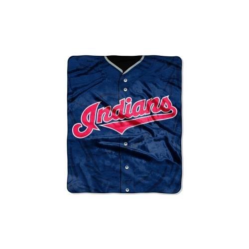 MLB Cleveland Indians Jersey Plush Raschel Throw, 50' x 60'