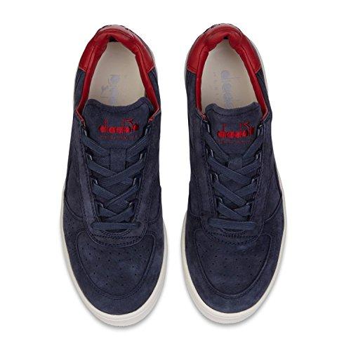 Diadora Heritage Uomo, B. Elite SW Marrone Taupe, Suede/Pelle, Sneakers, Marrone 60066 - Blu Mar Caspio