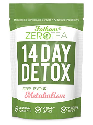 Zero Tea 14 Day Detox Tea, Weight Loss Tea, Teatox Herbal Tea for Cleanse (Best Way To Reduce Tummy Fat)