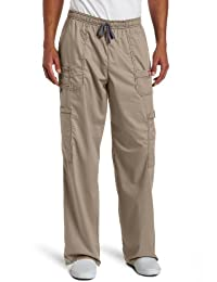 Dickies Mens GenFlex Men's (Contrast) Drawstring Cargo Scrub Pant Big & Tall Medical Scrubs Pants