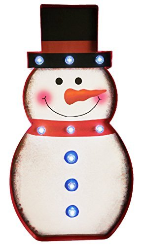 Christmas Festival  LED Marquee Snowman Sign