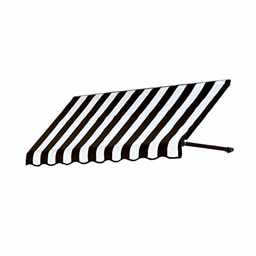 Dallas Retro Awning - Awntech 5-Feet Dallas Retro Window/Entry Awning, 44 by 24-Inch, Black/White