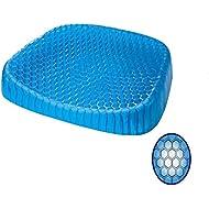 Julvie Egg Gel Foam Seat Cushion Non-slip Office Chair Cover Sitter Soft Pad Mat Pain Relief Ease for Car Desk Chair