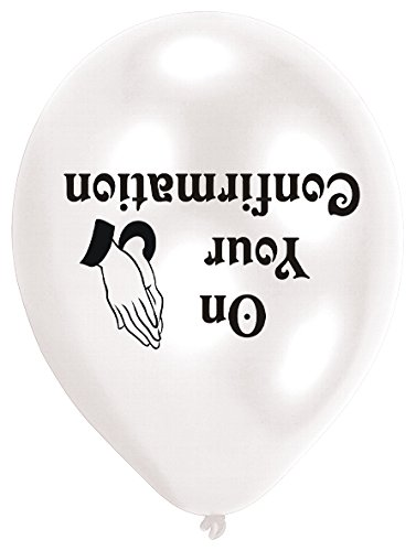 Amscan 22.8cm Confirmation 10 Latex Balloons -