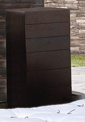 BH Design Zen 6-Drawer Chiffonier, Espresso Finish