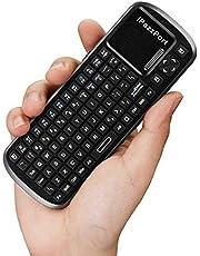 لوحة مفاتيح تعمل باللمس لاسلكية صغيرة محمولة بتقنية البلوتوث من اي بازبورت 84 مفتاحاً لأجهزة تابلت التلفاز الذكي والكمبيوتر الشخصي [C1698]
