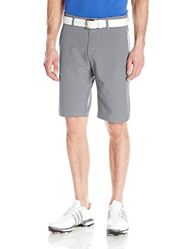 (adidas Golf Ultimate+ 3-Stripes Short, Mid Grey, 34