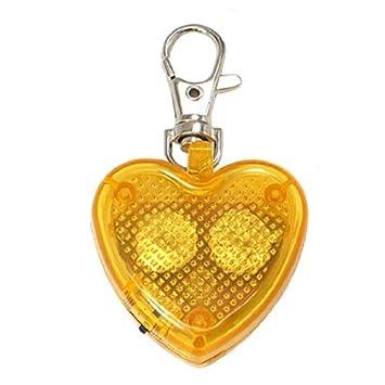 Corazón amarillo luz de flash LED corchete de la langosta ...