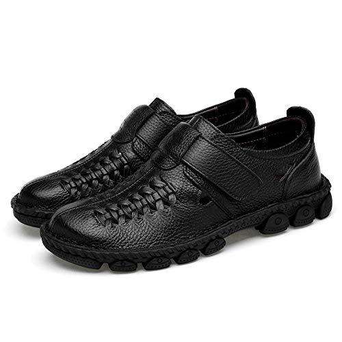 Hombre Negro Para De Vestir Papel shoes Sandalias Sry nxqXwZYP0X
