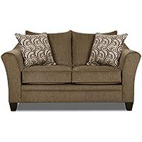 Simmons Upholstery 6485-02 Albany Truffle Albany Loveseat