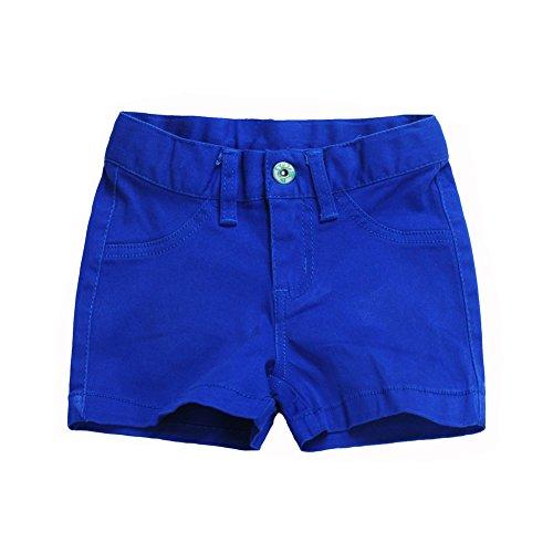 Snowdreams Girls Casual Solid Color Cotton Shorts Color Royal Blue Size 3T by Snowdreams