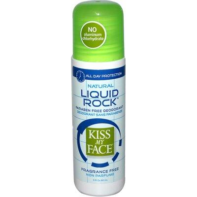 Kiss My Face 0990648 Deodorant Liquid Rock Roll-On Fragrance Free - 3 fl oz