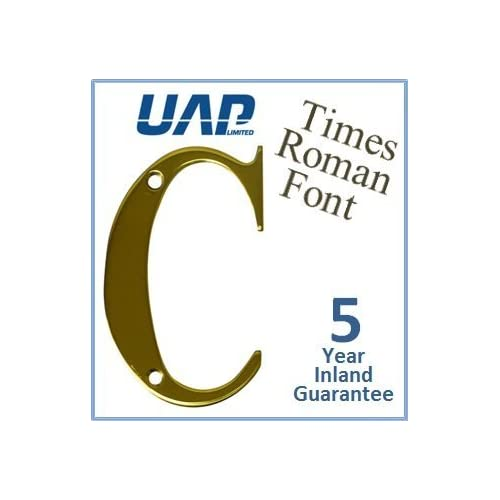 3 Times Roman Door Numeral - Letter C - Polished Brass by UAP