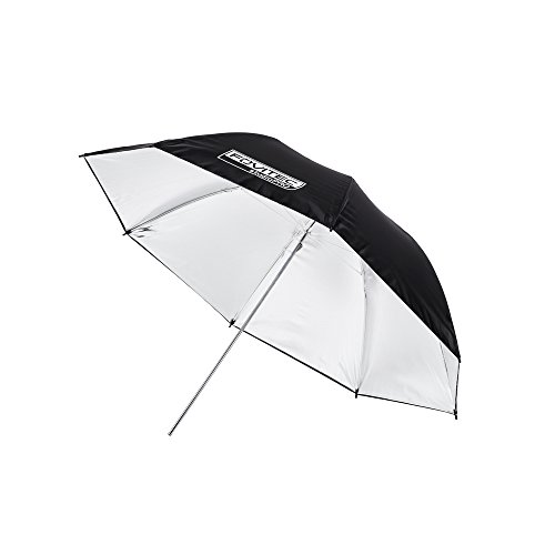 Fovitec - 1x 33 inch Silver Photography & Video Reflector Umbrella - [Reinforced Fiberglass][Lightweight][Easy Set-up][Collapsible][Durable Nylon] by Fovitec