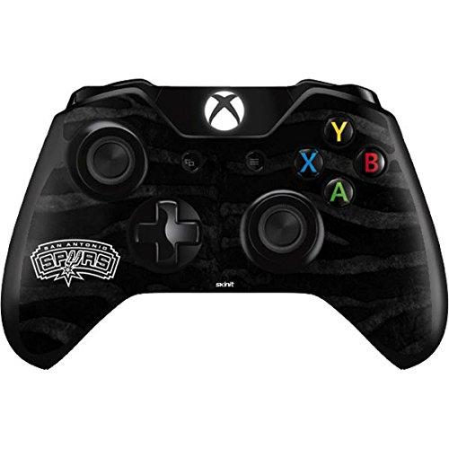 NBA San Antonio Spurs Xbox One Controller Skin - San Antonio Spurs Black Animal Print Vinyl Decal Skin For Your Xbox One Controller by Skinit