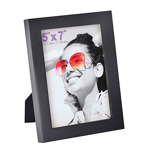 RPJC 5x7 Picture Frames Made of Solid Wood High Definition Glass for Table Top Display and Wall mounting photo frame ()