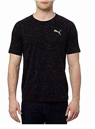 Puma Men's Evostripe Tee Shirt Crew Neck (Medium, Black Heather) from PUMA