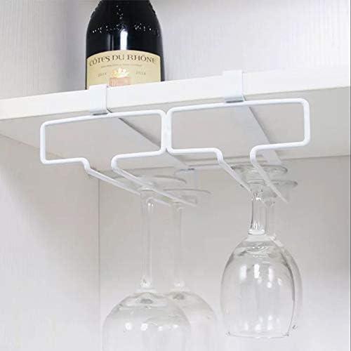 ワイングラスラック ホワイトハンギングメタルヨーロッパの鉄のワイングラスハンギングラック&ゴブレットホルダーシェルフをマウント ステムウェアラック (色 : White, Size : B)