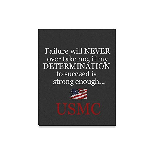 (Christmas Decor USMC United States Marine Corps Semper Fi Failure Will Never Overtake Me Oil Painting Canvas Print Wall Art for Home Decoration(16x20inch))