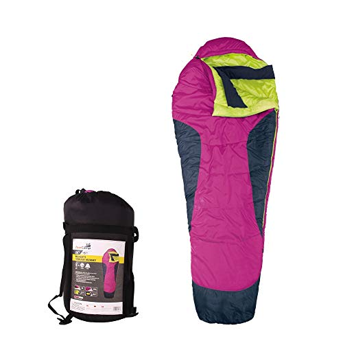 - AceCamp Terrain Mummy Sleeping Bag, Warm & Cold Weather Winter Sleeping Bags, 0, 20 & 45 Degree Bags for Camping, Backpacking, Hunting, Hiking, with Compression Sack (Pink / 20 Degree)