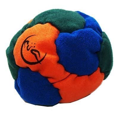 Flames 'N Games 6 Panel Hacky Sack - Blue/Orange/Green: Sports & Outdoors