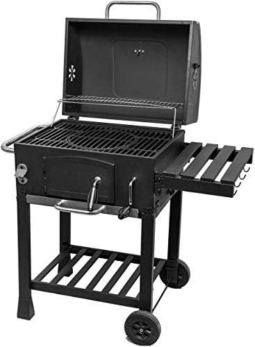 ACTIVA Angular Barbecue à charbon de bois en acier inoxydable à roulettes