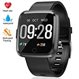 Fitness Tracker - Activity Tracker with Heart Rate Monitor - Waterproof Smart Watch