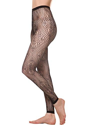 Diamond Lace Pantyhose - 7