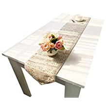 European Themes Double-Sided Printing Table Runner LivebyCare Cotton Linen Not Jute Fabric Table Decoration Runers For Home 12x86 Inches