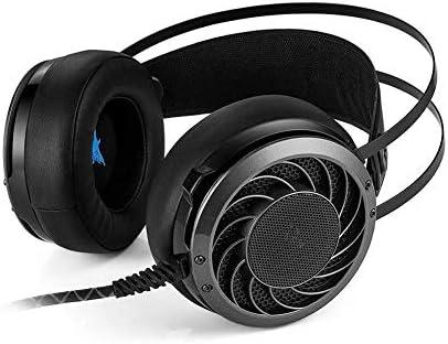 HNSYDS 小麦柔らかい耳あて付きヘッドセットコンピュータヘッドセット黒のゲーミングヘッドセット ゲーミングヘッドセット