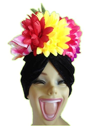 Carmen Miranda Feather Hat Headpiece Fruits Showgirl Costume Accessory -