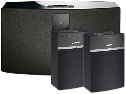 Bose SoundTouch 30 and 10 Wireless Music System Bundle 3-Pack Black: (1) 30 and (2) 10 speakers