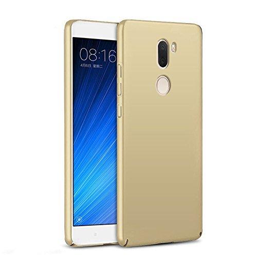 SMTR Xiaomi Mi5S plus Funda, Calidad Premium Cubierta Delgado Caso de PC Hard Gel Funda Protective Case Cover para Xiaomi Mi5S plus -Negro Oro