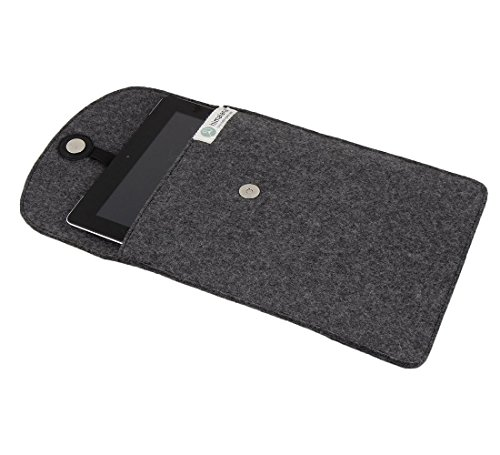Felt Ipad Wool - MOJOPANDA Virgin Organic Wool Felt 12 Inch I Pad, Kindle Pouch Grey Sleeve Case Carrying Pouches Best Christmas/Xmas And Thanksgiving Gifts For Men & Women
