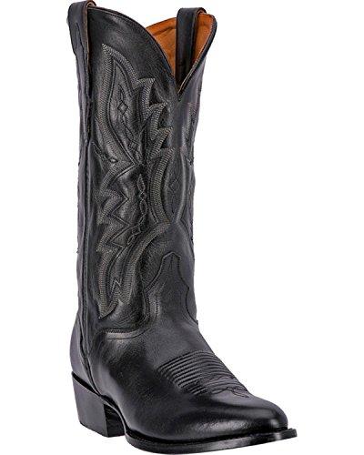 Bottes De Cowboy Veau Veau Vaincu À La Main De El Dorado Bout Rond - Ed1100 Noir