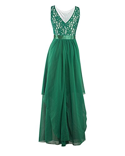 2e3cfe4a823d Da Pizzo Guiran Vestito Vestiti Cocktail Elegante Verde Banchetto In Donna  Sera Chiffon Abiti Abito Lunghi Matrimonio Ipwwqg5