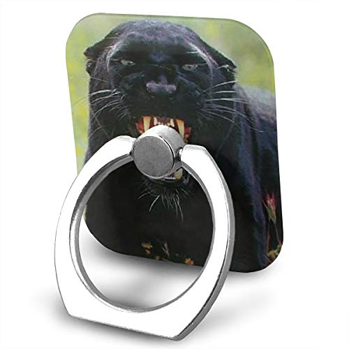 BLDBZQ Cell Phone Ring Holder Snarling Black Panther (Leopard) Wildlife Animal Finger Grip Stand Holder 360 Degrees Rotation Compatible with iPhone Samsung Phone Case ()