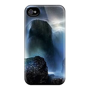 New Arrival Cover Case With Nice Design For Iphone 4/4s- Rainbow At The Bottom Of A Waterfall