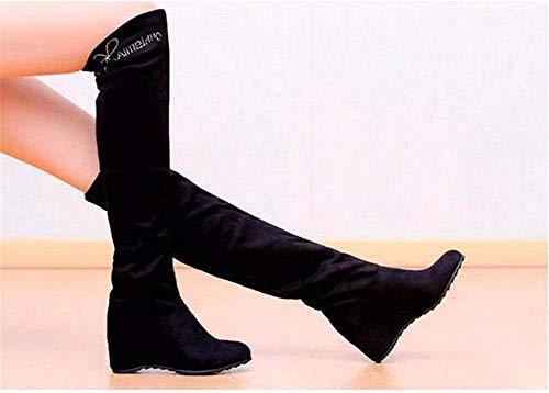 Eu Bottes Plat Lady Loisirs Deed Traîneau De Knee Étirement Avec 36 Chaussures Longues qHfdf7nE